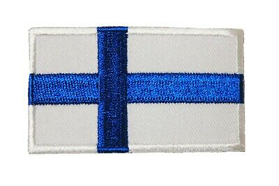 Finland Country Flag Iron-On Patch Crest Badge 1.5 X 2.5 Inch