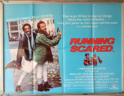 Cinema Poster: RUNNING SCARED 1986 (Quad) Gregory Hines Billy Crystal Jon Gries