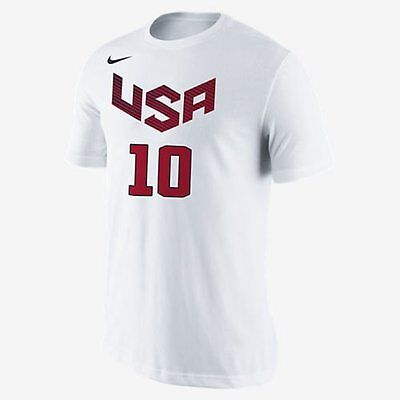 USA Basketball Kyrie Irving White Dri-FIT Nike T-Shirt - 2XL XXL Cavaliers NEW