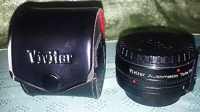 VIVITAR AUTOMATIC TELE CONVERTER 2X-5 MADE IN JAPAN, with CAPS & CASE; Great!