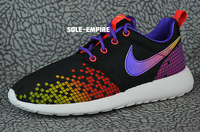sustracción Recuento adecuado  NIKE ROSHE ONE PRINT GS MULTI 677784 607 PINK BLAST/WHITE-ELECTRIC  GREEN-BLUE Girls' Shoes