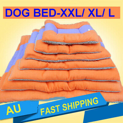 Large Medium Small Warm Soft Fleece Pet Dog Cat Kennel Puppy Bed Mat Pad Cushion