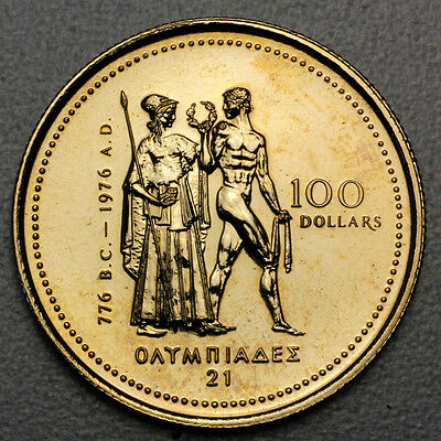 Canada  $100  Gold Coin 14Kt  1976 * Olympic *