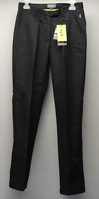 New Ladies Size 6 Euro 38 Abacus golf  OPT polyester black wind & rain pants