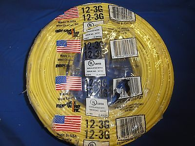 New Romex 12/3 type NM-B Southwire yellow 250 feet