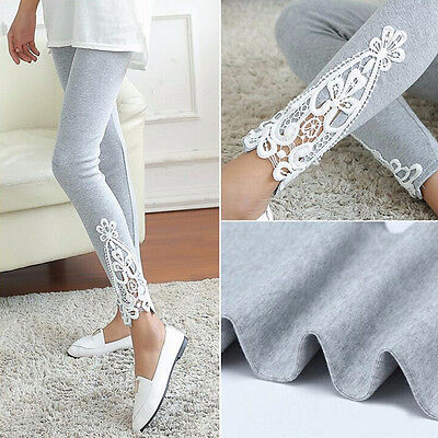 c55e564639 Fashion Women's Sexy Skinny Lace Cotton Slim Stretch Leggings Pants  Jeggings ES