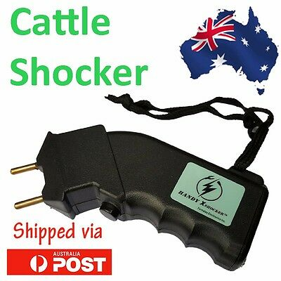 Electric Hand Cattle Prod Beef Dairy Dogs Sheep Battery Power Prodder Animals