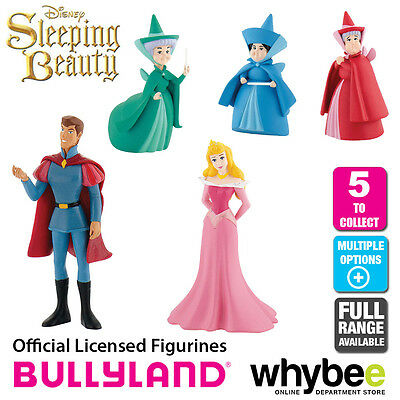 Official Bullyland Disney Sleeping Beauty - 5 Cake Topper Toy Figures to Collect