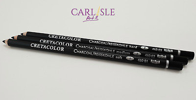 Cretacolor Charcoal Soft,Medium, Hard.Sold  Separately . Choose your Grade.
