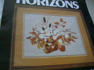 Monarch Horizons Autumn Still Life Crewel Embroidery Kit-16x20 Inches-Reinardy
