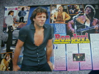 "Bon Jovi German Clippings ""K""  1 cover"