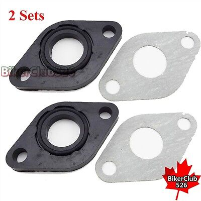 Scooter Engine Carburetor Carb 17mm Intake Gasket Kit For GY6 50cc Moped
