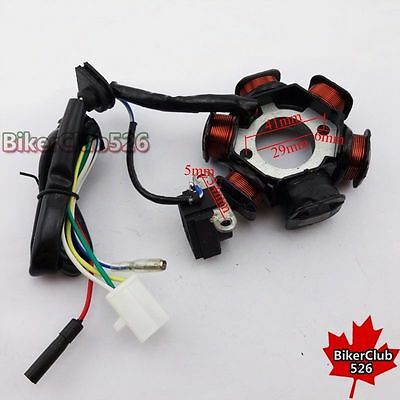 6 Poles Stator Magneto For GY6 50cc 139QMB Engine Moped Scooter ATV Quad Go Kart