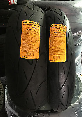 Continental Sport Attack 120/70/17 + 1805517  Motorcycle Tyres Pair
