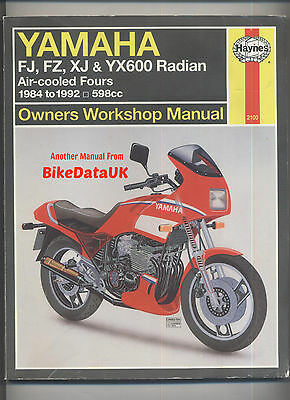 haynes manual fj fz xj and yx600 radian 1984 to 1992. Black Bedroom Furniture Sets. Home Design Ideas