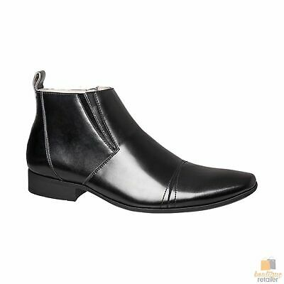 JULIUS MARLOW JM33 Cain Synthetic Leather Boots Shoes Slip On Men's Formal Work