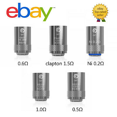 JOYETECH AIO&CUBIS COIL BF SS316( 0.5Ω 0.6Ω 1.0Ω CLAPTON Ni200) 5-PACK TOP RATED