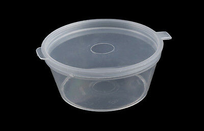 1oz Clear Hinged Lid Plastic Sauce Containers Cups/Pot/Tub/Deli/Takeaway