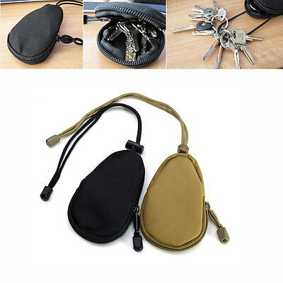 Tactical Waterproof Key Bag EDC Coins Pouch MP3 Keychain Holder Case Hunting Bag