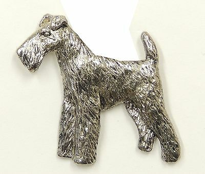 Welsh Terrier Brooch, Silver Plated