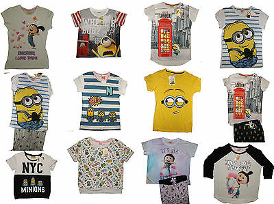 Primark Minion Despicable Me pyjama sets and seperates all sizes BNWT