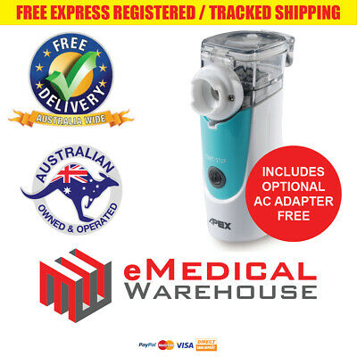 APEX MEDICAL Mobi Mesh Portable Nebuliser / Nebulizer with mesh technology