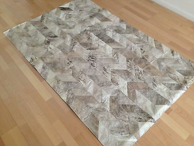 New Cowhide Rug Leather. Animal Skin Patchwork Area Carpet.