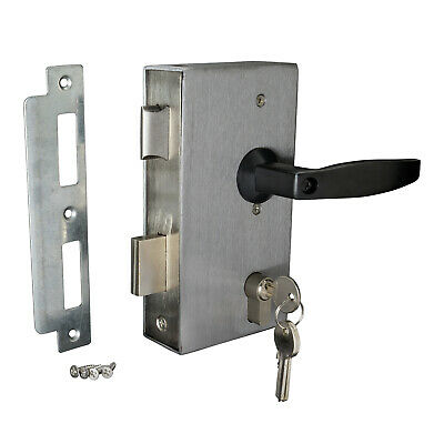 Weld In Gate Lock Double Throw Sashlock To Suit 50x50mm Box Section DLDT50