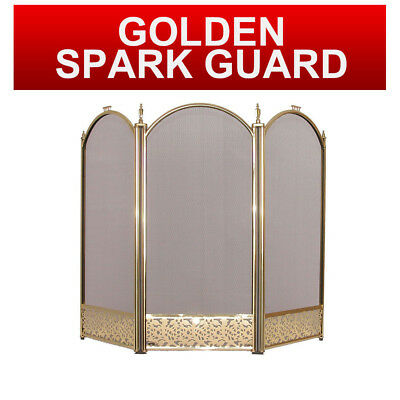 Firescreen Large Guard Screen Fireguard Protective Spark Guard Safety 3 Panel