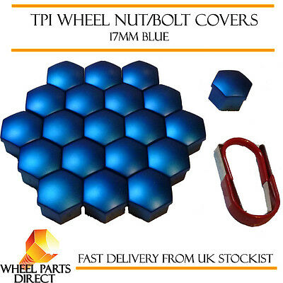 TPI Blue Wheel Bolt Covers 17mm Nut Caps for BMW 3 Series [E46] 98-06