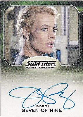 Star Trek Aliens 2014 Jeri Ryan As Seven Of Nine Autograph Extremely Limited