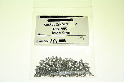 10 M2 x 5mm Socket Countersink Csk Stainless Steel SCREWS