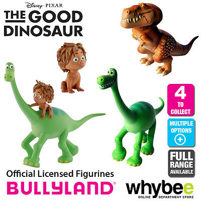 Official Bullyland Disney The Good Dinosaur - 4 Cake Topper Toy Figures to Colle