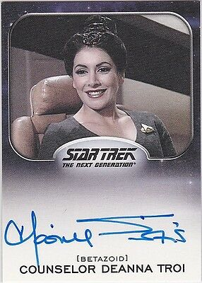 Star Trek Aliens 2014 Marina Sirtis As Deanna Troi Autograph Very Limited