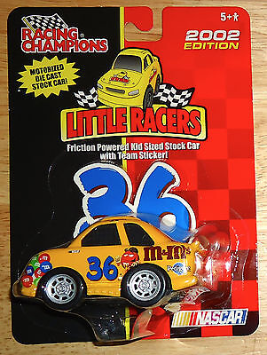 RACING CHAMPIONS M&M'S LITTLE RACERS 2002 EDITION NASCAR TEAM STICKER Motorized