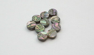 Set of 10 Real Abalone Pre-cut Shark Inlays for Custom Guitar *Blowout Sale*
