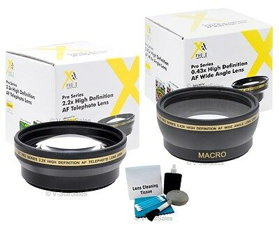 43mm XIT Pro HD 2.2x Telephoto + 0.43x HD Wide Angle Lens