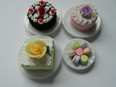 (C1.2) Dolls House Cakes : 4 X Handmade Assorted Cakes