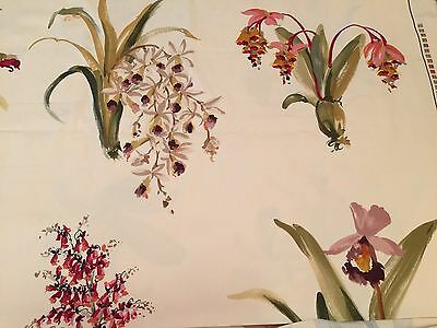 6 Yds Brunschwig & Fils Upholstery Fabric ORCHIDELIRIUM Orchid Guy Romagna