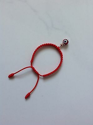 Baby Red String Bracelet, Red evil eye,good luck charm. Sterling Silver 925