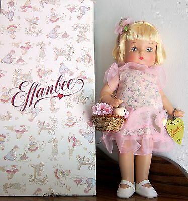 "PATSY Tisket A' Tasket hard plastic Doll Effanbee 14"" w/ box (VIEW ALL PHOTOS)"