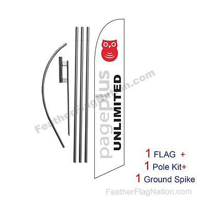 PagePlus Wireless Feather Banner Swooper Flag Kit with pole+spike