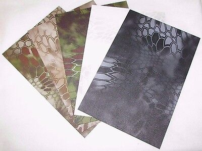 "GENUINE KYDEX KRYPTEK CAMO SHEETS - 8"" x 12"" .080"" THICKNESS - CHOOSE YOUR OWN"