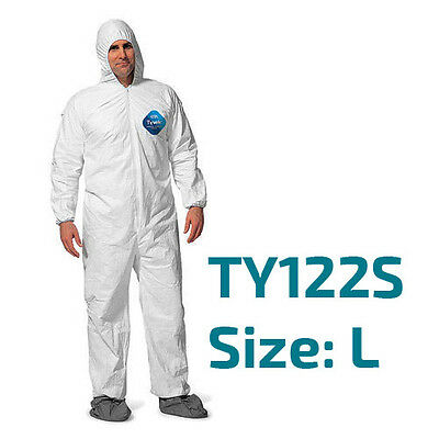 Dupont Tyvek Coverall Bunny Suite with Hood and boots - TY122S / Size Large