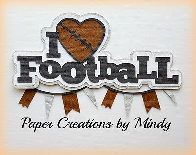 Craftecafe Mindy Sports School Football Title premade paper piecing scrapbook