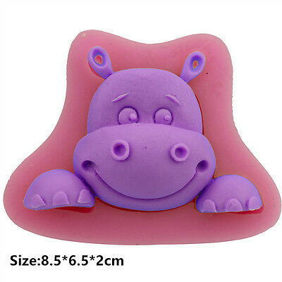 Hippo Baby Silicone Cake Mould Fondant Sugar Craft Chocolate Decorating Tool