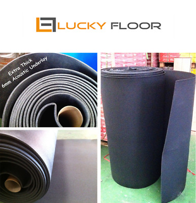 6mm Extra Thick Black Acoustic Underlay / FLOATING FLOOR /FLOOR /TIMBER LAMINATE