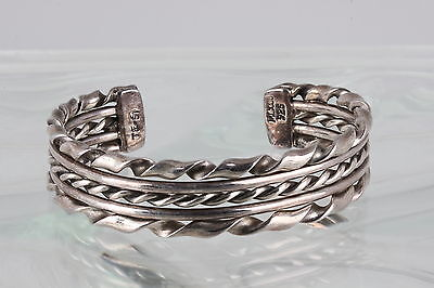 Sterling Silver Taxco Tf-51 Cuff Bracelet 925 Mexico 2339