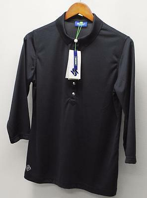 New Ladies Daily Sports Mindy polyester 3/4 sleeve golf polo shirt Navy Large