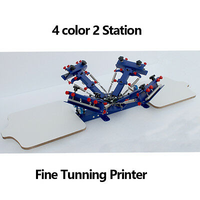 4 color 2 station Table Press Screen Printing Machine/ Equipment Color Register